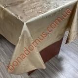 8227 F Клейонка ПВХ на тканинній основі карбована золото/срібло 1,40*20м