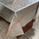 8227 B Клейонка ПВХ на тканинній основі карбована золото/срібло 1,40*20м